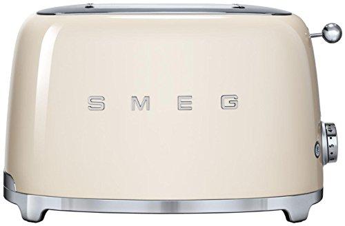smeg 2 slice toaster cream retro appliances. Black Bedroom Furniture Sets. Home Design Ideas