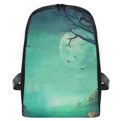 Kid's Backpack Halloween Spooky Forest Dead Trees Pumpkins Personalized Shoulders Bag Classic Lightweight Daypack for Girls/Boys