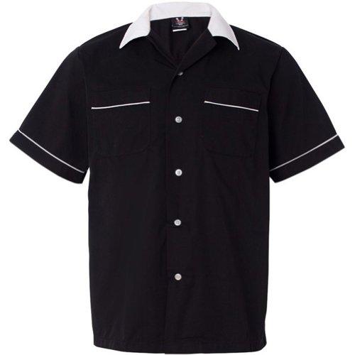 Hilton Bowling Retro Gm Legend (Black_White) (L) Legend Bowling Shirt