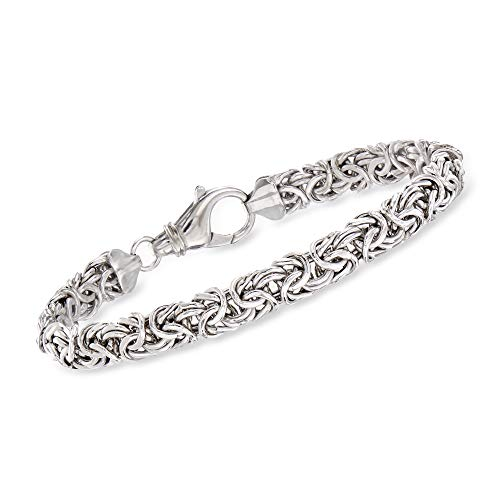 Ross-Simons 925 Sterling Silver Handmade Byzantine Bracelet, 9.5 Gram Weight from Ross-Simons