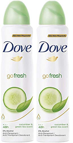 Dove Go Fresh Deodorant 48h Spray 150 ml/5 fl oz (Cucumber  Green Tea, 2-Pack) reviews