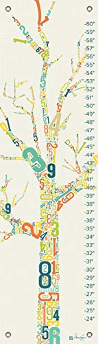 Oopsy Daisy Growth Charts Numbers Tree by Marcie Carson, 12 by -
