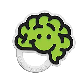Fat Brain Toys Brain Teether - Green Baby Toys & Gifts for Babies