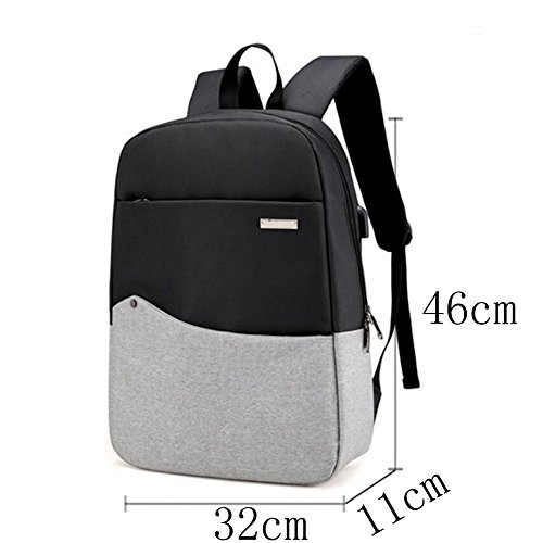 Backpack Dhfud Bag Darkgray Student Usb Computer Men Travel Casual Interface 's 4qrqd1