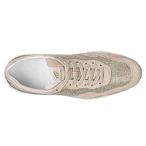 8763938f584 50% de descuento Hogan Zapatos Zapatillas de Deporte Mujer EN Ante Nuevo  Interactive Beige