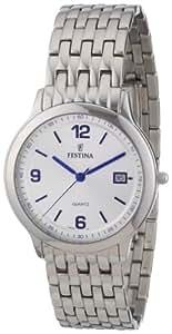 Festina F16236/2 - Reloj analógico de cuarzo para hombre con correa de acero inoxidable, color plateado