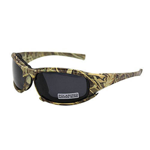 Polarized Daisy X7 Army Sunglasses, Military Goggles 4 Lens Kit Tactical Goggles (Camouflage, 1 Lens Polarized (Out of - Lens Camo Sunglasses