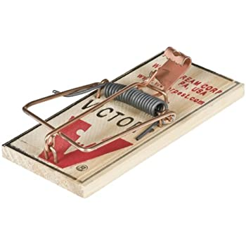 Victor Metal Pedal Mouse Trap - 2 Pack M023 - Wood Mouse Trap