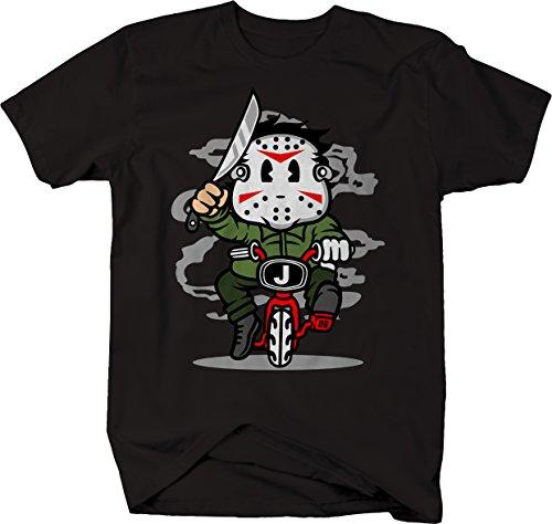 M22 Kid Jason Junior - Mask machete Kid Funny Horror Villain Tshirt - Medium