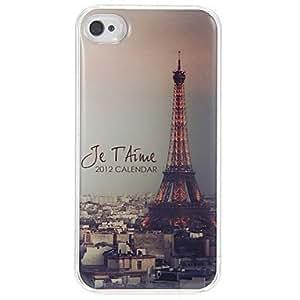Tarde de Patrón París estuche rígido epóxico para el iPhone 4/4S