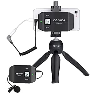 comica cvm ws50 c wireless smart phone lavalier microphone system with uhf 6. Black Bedroom Furniture Sets. Home Design Ideas