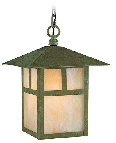 - Livex Lighting 2141-16 Montclair Mission 1-Light Outdoor Hanging Lantern, Verde Patina