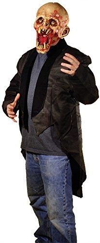 (UHC Men's Tattered Tuxedo Coat Zombie Horror Theme Halloween Costume, OS (Up to 44))