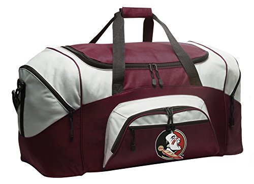 Large FSU Gym Bag Deluxe Florida State Duffle Bag by Broad Bay