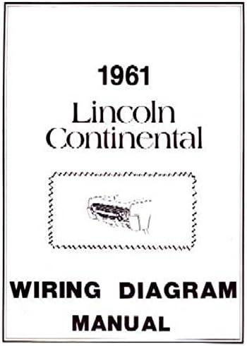 Amazon.com: bishko automotive literature 1961 Lincoln Continental  Electrical Wiring Diagrams Schematics Manual Book OEM: AutomotiveAmazon.com