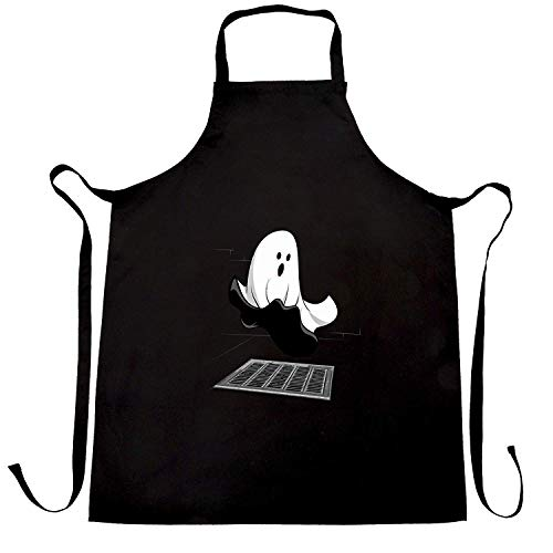 WEGOOAL Halloween Iconic Monroe Ghost Parody.Kitchen Cooking Aprons Bib Apron for Women Men Chef,BBQ Party Commercial Craft Black