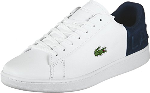 Lacoste Evo Herren Carnaby Weiß Ledertrainer 318 2 QSP Weiß SPM 616rxgw