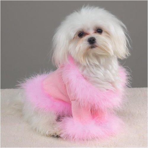 PINK - X-SMALL - Fashion Glitz Sweater - HIGH FASHION DOGGY SWEATER