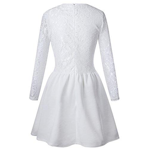 Vintage kleid weib spitze