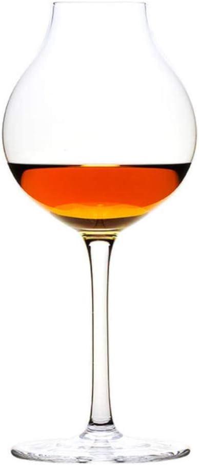 LFT - Copa de whisky de cristal, Petaca de hierro caja de regalo, 245mL