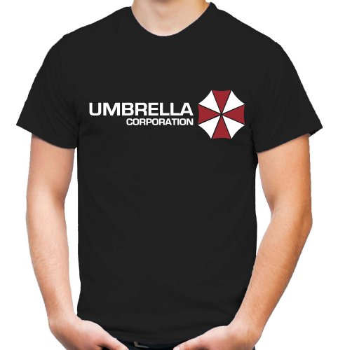 Umbrella Corporation T-Shirt | Resident Evil | Raccon City | Zombie | Horror | Herren | Männer | Sci-Fi-Action | T-Virus | Fun | Kult