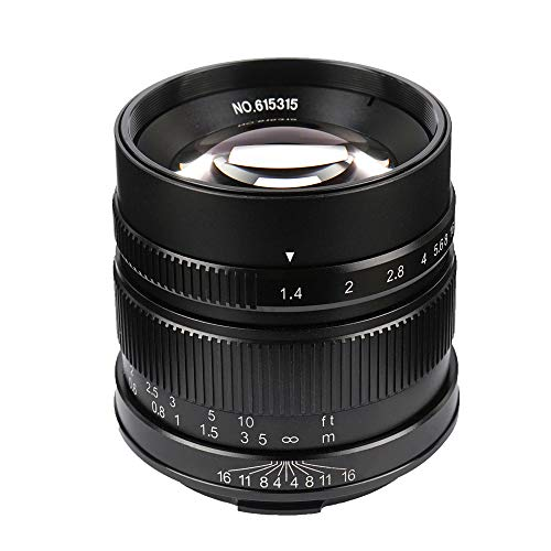 7artisans 55mm/F1.4 APS-C Manual Fixed Lens for Leica T Mount Like Leica T Leica TL Leica TL2 Leica CL ()