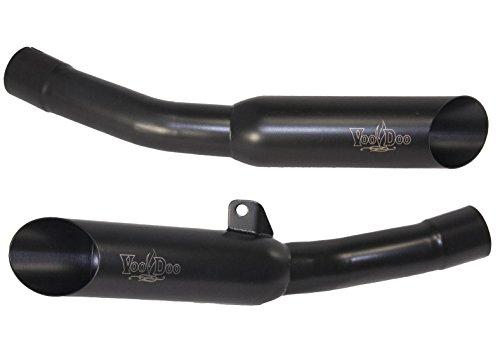 VooDoo Industries VEZX14K6B Black Dual Exhaust for Kawasaki ZX-14 R