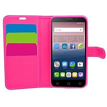 SAMRICK Ejecutivo - Carcasa cartera de cuero para Vodafone Smart Turbo 7, color rosa: Amazon.es: Electrónica
