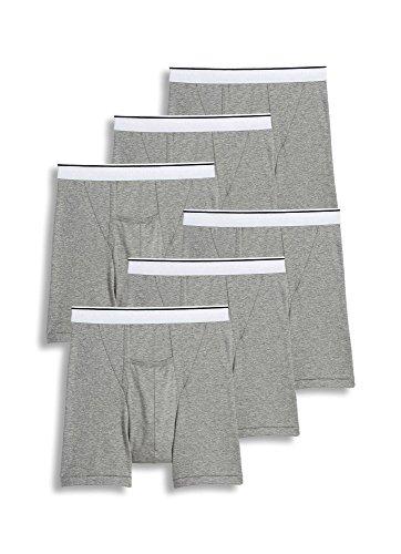 Mens Pouch Jockey - Jockey Men's Underwear Pouch Boxer Brief - 6 Pack, Grey Heather, M