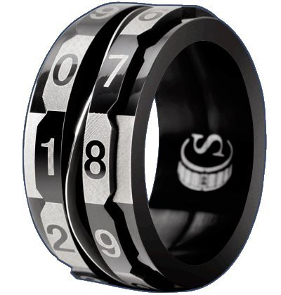 Critsuccess Life Counter Black Dice Ring (Size 14)