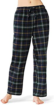 SIORO Womens Flannel Pant Cotton Pajama Bottoms PJ Pants Sleepwear Loungewear