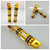 Pair Malle mount-style Foot Pegs Footrests For Harley Fatboy Softail Dyna Night Train Sportster 1200 883 FLHX Motorcycle (gold)