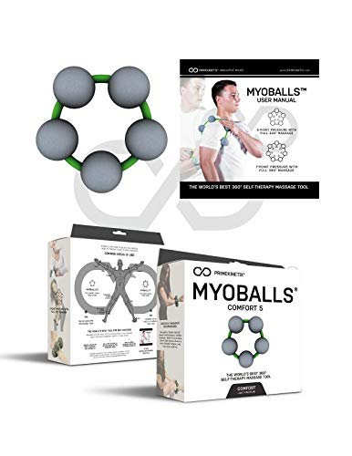 Foam Trigger Point Massage Balls by MyoBalls | Tennis and Golf Elbow, Forearm Release, Trigger Point Therapy, Knee Relief - Comfort ()