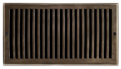 Brass Elegans 116H AB Solid Cast Brass Contemporary 6-Inch by 12-Inch Air Return, Antique Brass Finish Model
