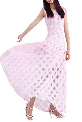 Svelte Décontractée Robe Plage Maxi Fête Femmes Robes Longue Rose Afibi OqSH5wcP