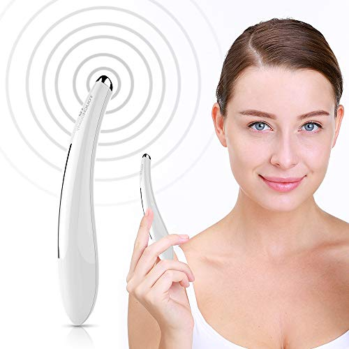 Heated Eye Massager, TOUCHBeauty 40℃ Eye Massager Wand with High-frequency Vibration and Smart Touch Switch for Eye Fatigue Relieve Your Dark Circles and Puffiness