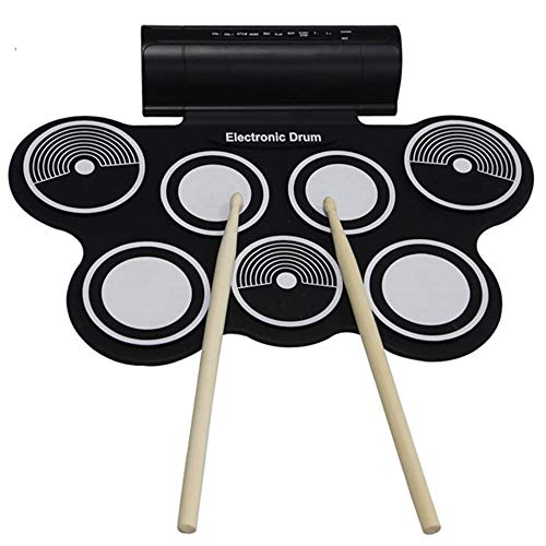 LXWM Portable Roll Up Electronic Battery USB Kit Midi Speaker Machine Percussion Instruments with Stick Bauble