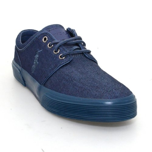 Polo Ralph Lauren Men's Faxon Low Sneaker (Navy/Denim, 12)