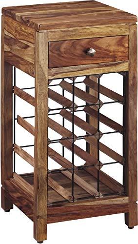 (Ashley Furniture Signature Design - Abbonto Wine Cabinet - Casual - Warm Brown Finish)