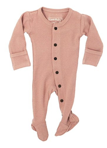 L'ovedbaby Unisex-Baby Organic Cotton Footed Overall (9-12 Months, Thermal Mauve)