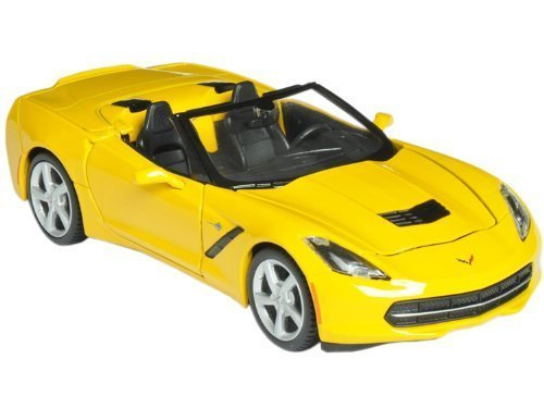 2014 Chevrolet Corvette C7 Convertible Yellow 1/24 by Maisto 31501