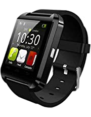 ساعة جولد سبارك الذكية بخاصية البلوتوث وتشغيل الموسيقي ومتوافقة مع الاندرويدوالiOS - اسود