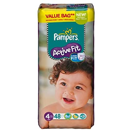 Pampers – 81371229 – Active Fit – Pañales – Talla 4 maxi 7 – 18 kg