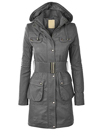 Leather Belted Coat - 2