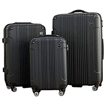 Pacific Link The American Legend Tracker Chip Luggage Trolley Bag, Black