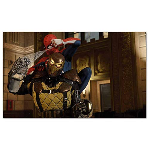 Canvas Prints Posters Spiderman vs Shocker Marvels Spiderman Picture Print on Canvas Easy to Hang for Home Decor 24x 16 inches