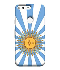 ColorKing Football Argentina 17 Multicolor shell case cover for Google Pixel XL