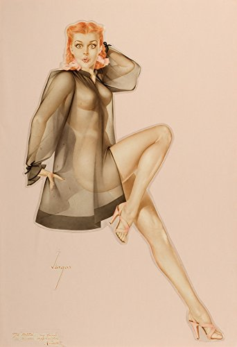 Berkin Arts Alberto Vargas Giclee Canvas Print Paintings Poster Reproduction(Pin up Girls 14)