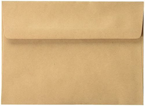 Darice 5 x 7 Blank Cards & Envelopes - Value Pack - 50 Count - Natural
