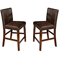 Imagio Home KA-BS-280L-RAI-K24 Kona 24 Parsons Barstool w/PU cushion back and seat, Set of 2